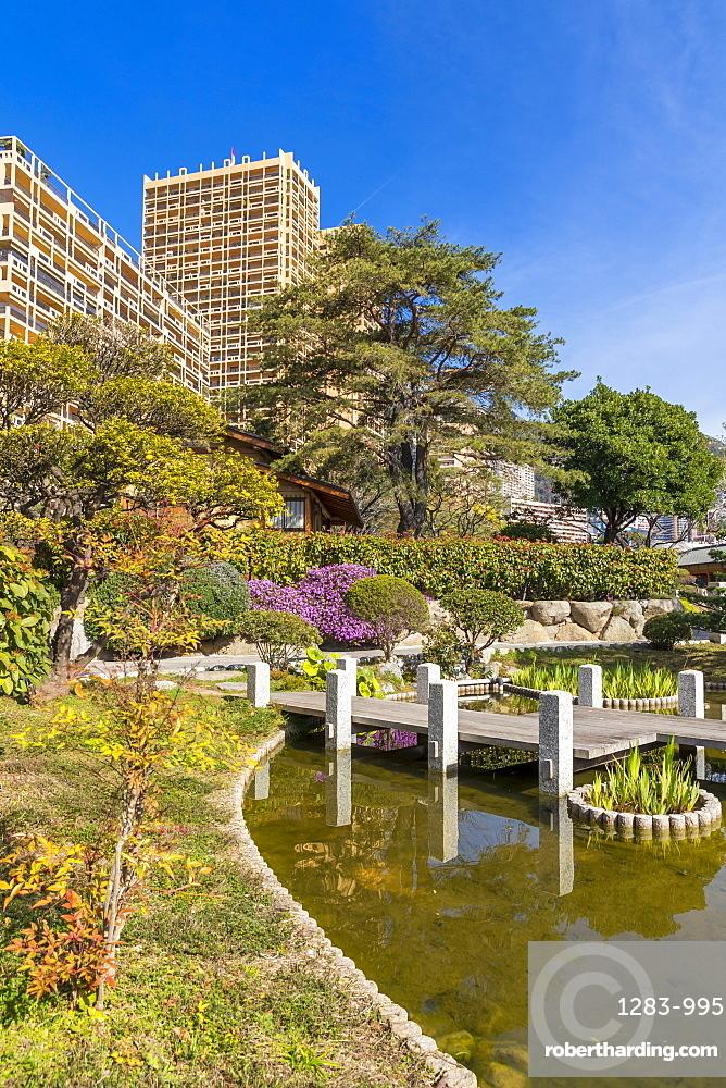 Japanese Garden, Monte Carlo, Monaco, Cote d'Azur, French Riviera, Mediterranean, Europe