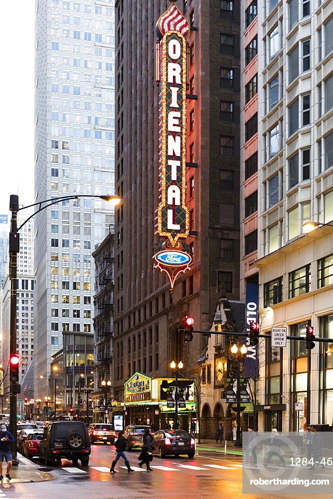 Oriental Theatre, Loop Theater District, Chicago, Illinois, United States of America, North America