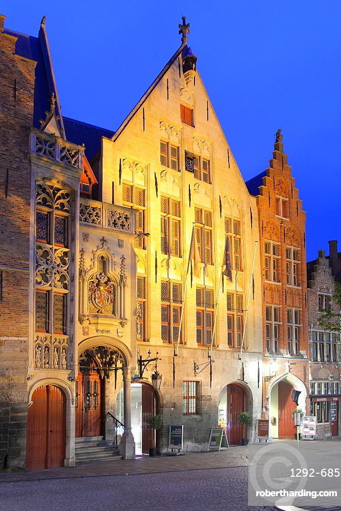 Van Eyck Square, Bruges, Flemish Region, West Flanders, Belgium, Europe