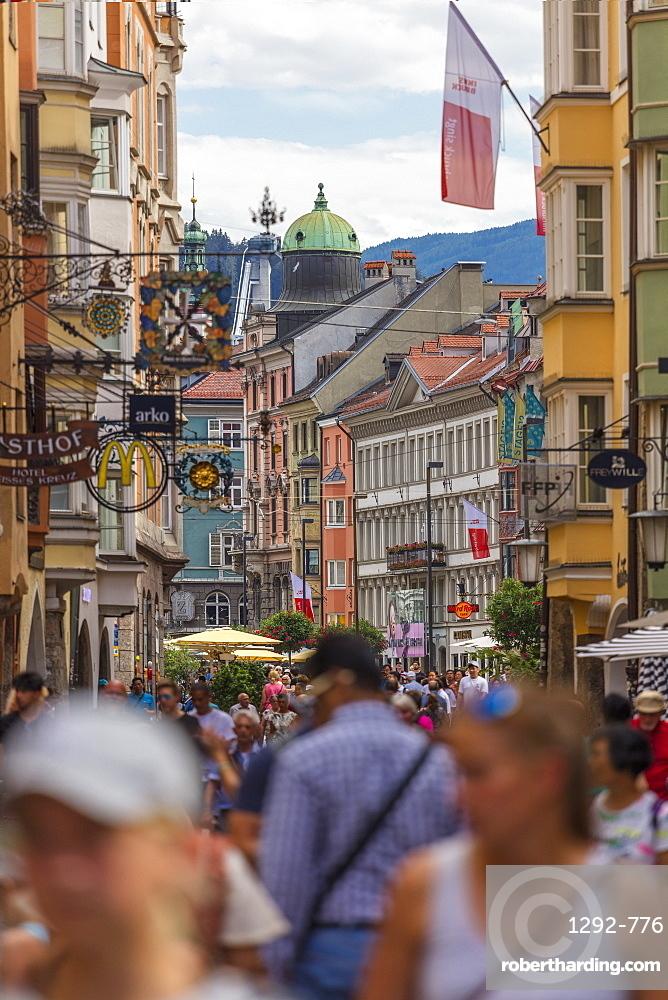 Herzog Friedrich Strasse, Innsbruck, Tyrol, Austria, Europe