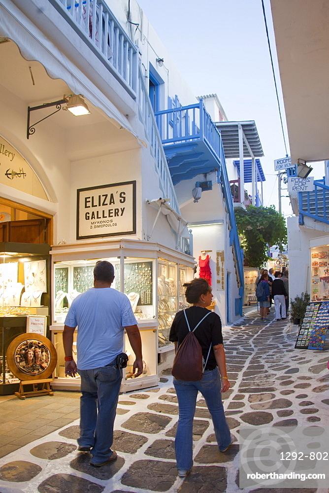 Chora of Mykonos, South Aegean, Cyclades, Greek Islands, Greece, Europe