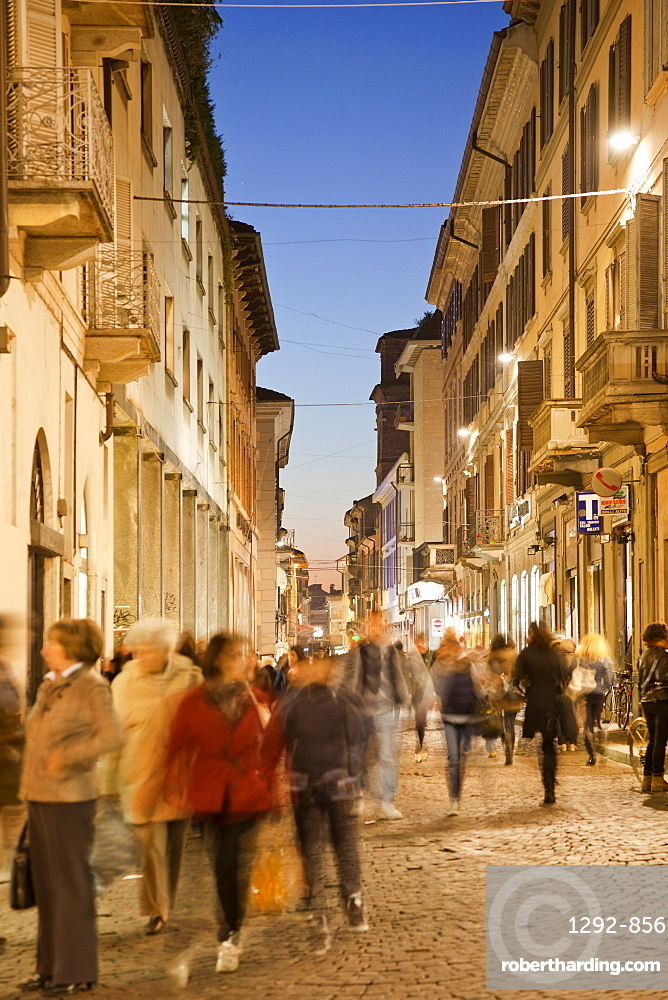 Corso Cavour, Pavia Cathedral, Pavia, Lombardy, Italy, EuropeEurope