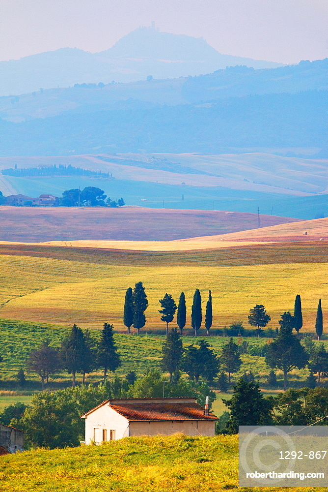 Surroundings, Pienza, Val d'Orcia, UNESCO World Heritage Site, Tuscany, Italy, Europe