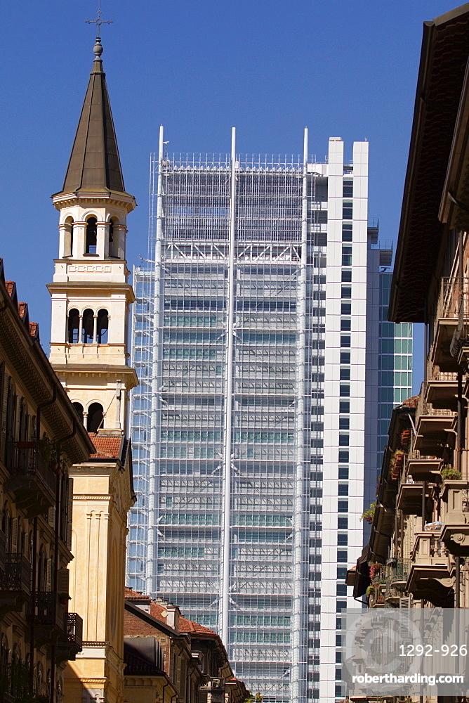 Intesa Sanpaolo building, Turin, Piedmont, Italy, Europe