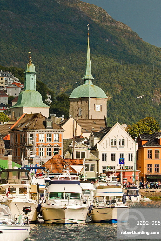 City center of Bergen, Norway, Scandinavia, Europe