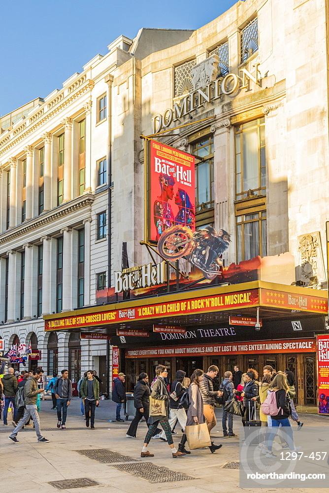 The Dominion Theatre on Tottenham Court Road, London, England, United Kingdom, Europe