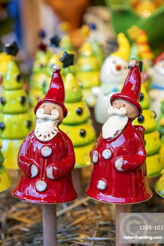 Father Christmas decorations, Budapest, Hungary, Europe