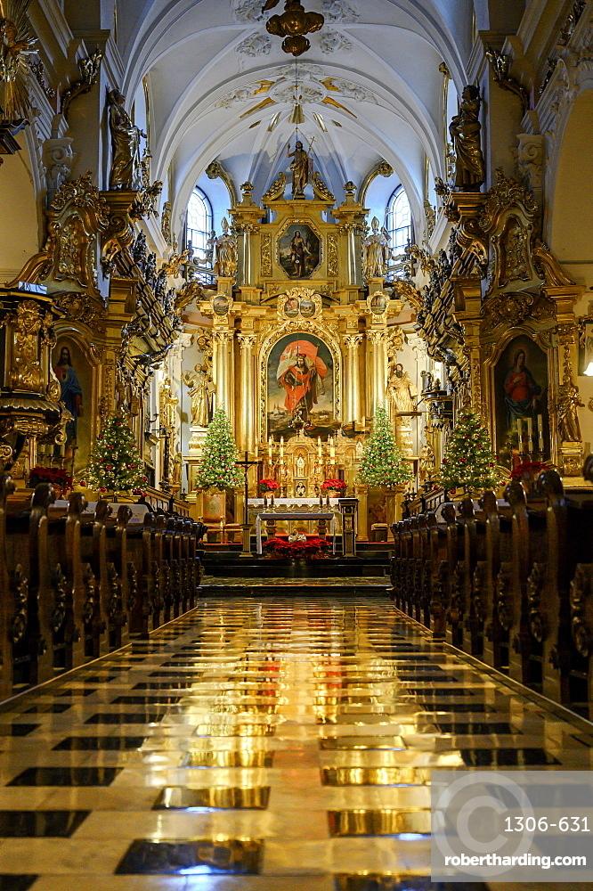 Interior of The Collegiate Church of St. Florian Krakow, Poland