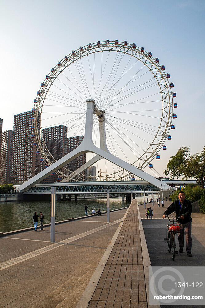 Tianjin Eye and river, Tianjin, China, Asia