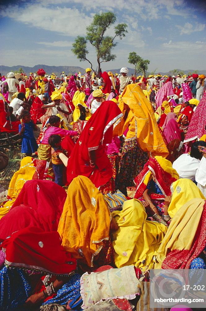 Crowds at the Pushkar Camel Fair, Pushkar, Rajasthan, India