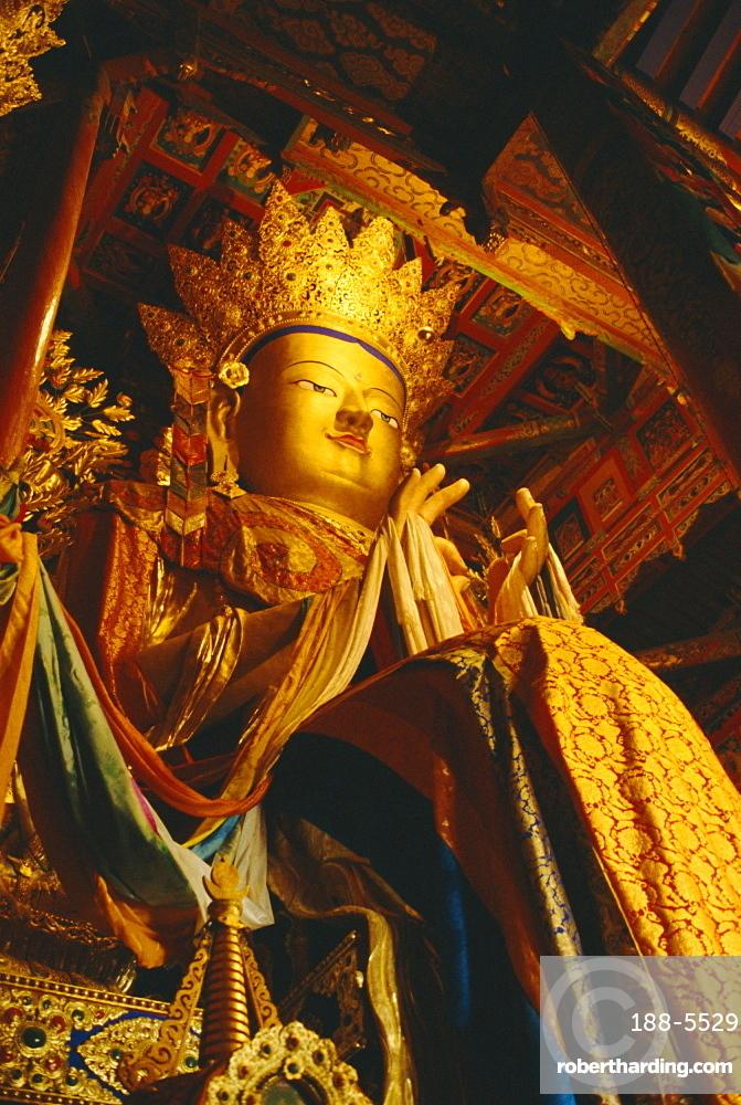 Statue of the Future Buddha, Qinghai, Tibet, China