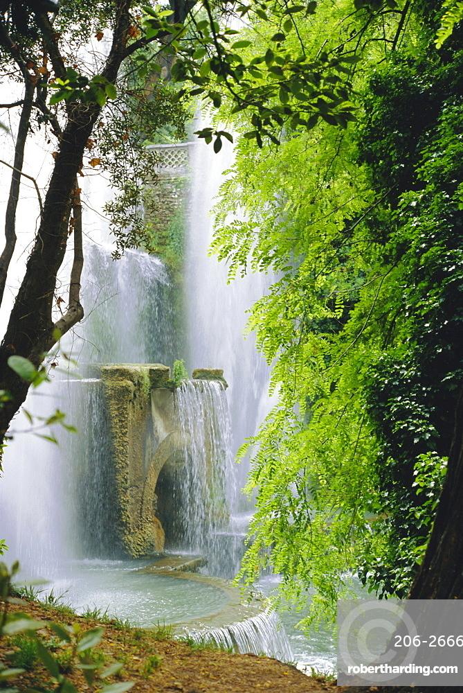 Organ Complex Fountain, Villa d'Este Gardens, Tivoli, Lazio, Italy, Europe