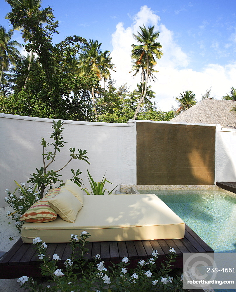 Pool at Coco Palm Bodu Hithi Resort in the Maldives, Indian Ocean, Asia