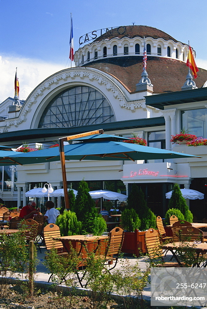 Casino, Evian-les-Bains, Lac Leman, near Geneva, Haute-Savoie, Rhone-Alpes, France, Europe