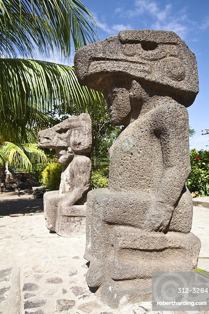 Ancient statues, Altagracia, Ometepe Island, Nicaragua, Central America