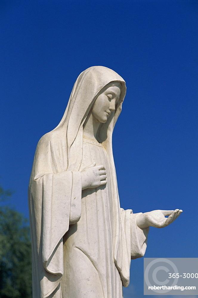 Statue of Our Lady near St. James, Medjugorje, Bosnia Herzegovina, Europe