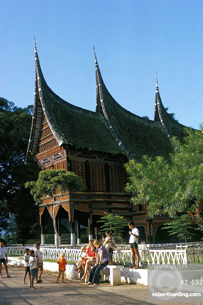 Minangkabu house, now a museum, Bukittinggi, Sumatra, Indonesia, Southeast Asia, Asia