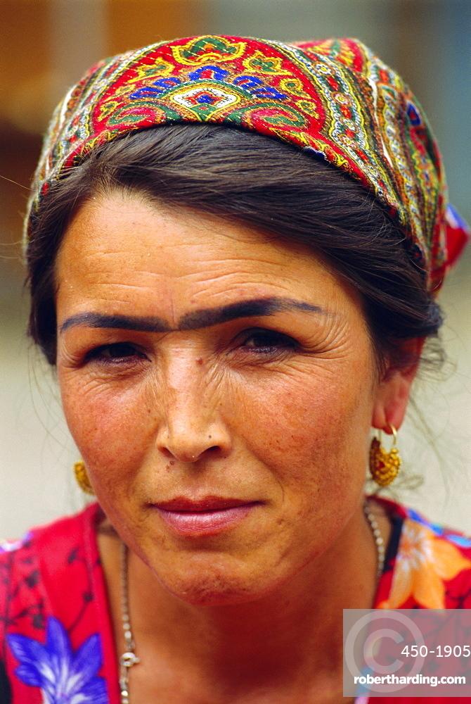 Uzbek woman, Kyrgyzstan, Central Asia