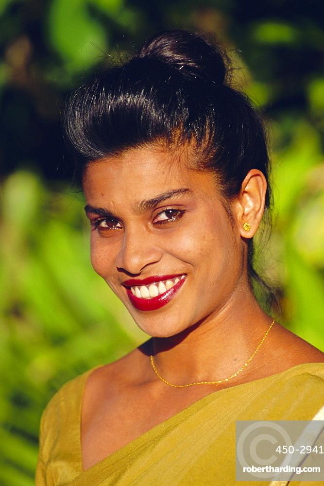 Young woman, Sri Lanka, Asia