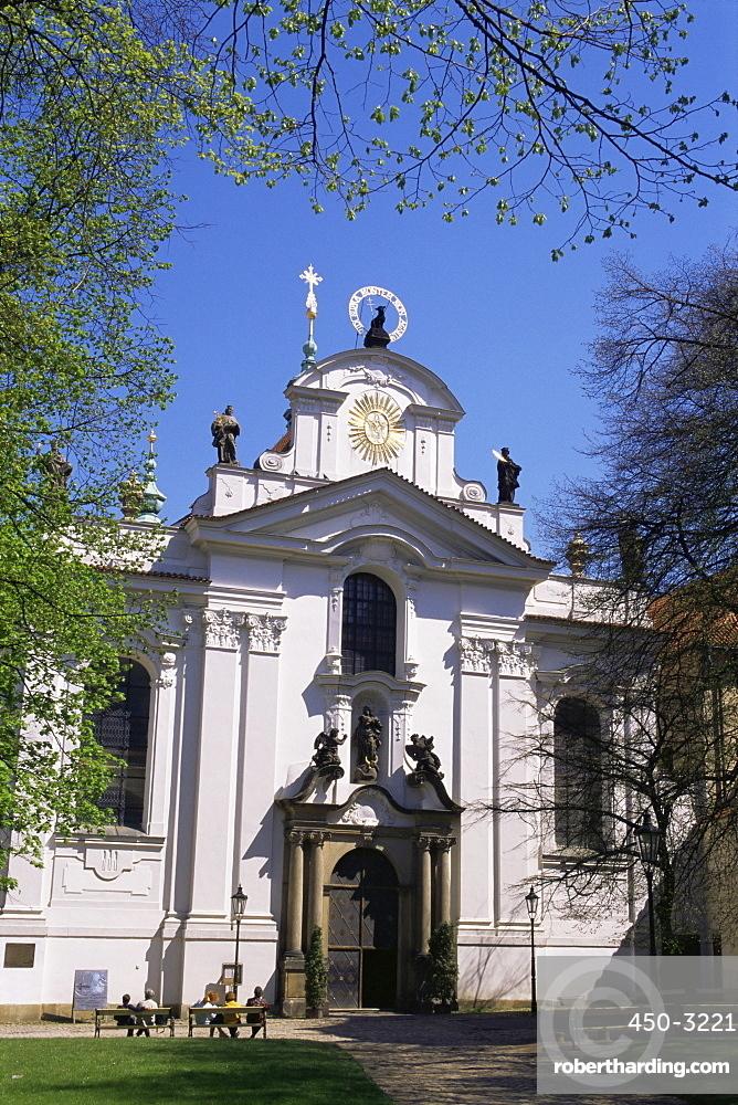 Strahov church facade, Hradcany, Prague, Czech Republic, Europe