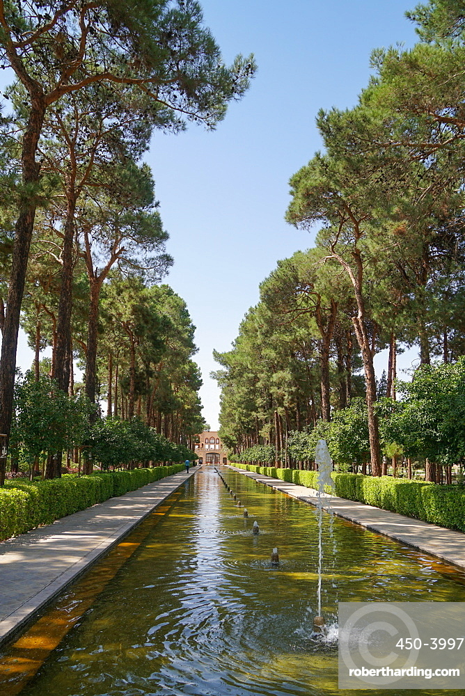 Bagh-e Dolat garden, Yazd, Iran, Middle East