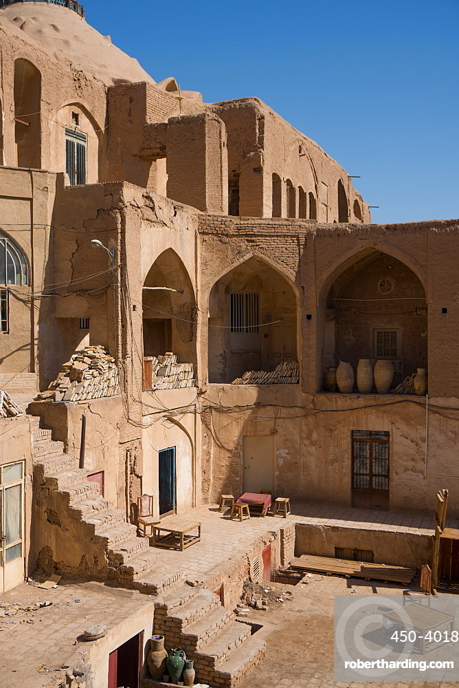 Courtyard in the Old Bazaar, Kashan, Iran, Middle East