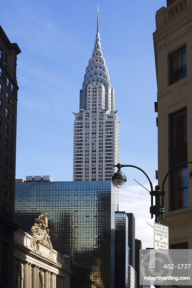 Grand Central Station Terminal Building and the Chrysler Building, 42nd Street, Manhattan, New York City, New York, United States of America, North America