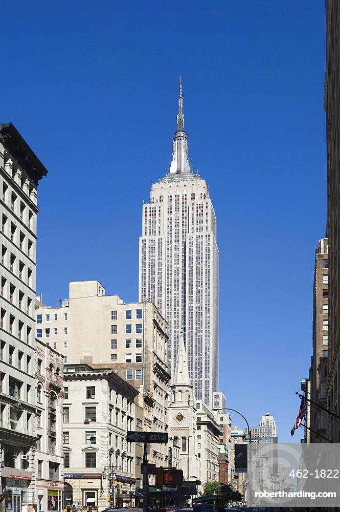 The Empire State Building, 5th Avenue, Manhattan, New York City, New York, United States of America, North America