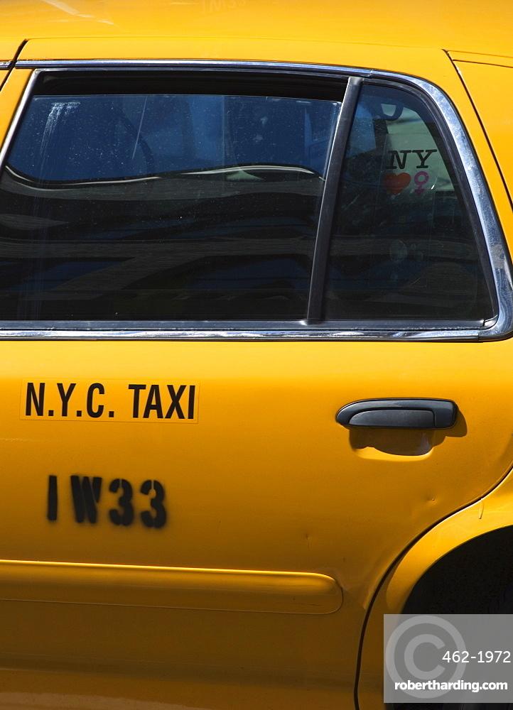 Taxi cab, Manhattan, New York City, New York, United States of America, North America