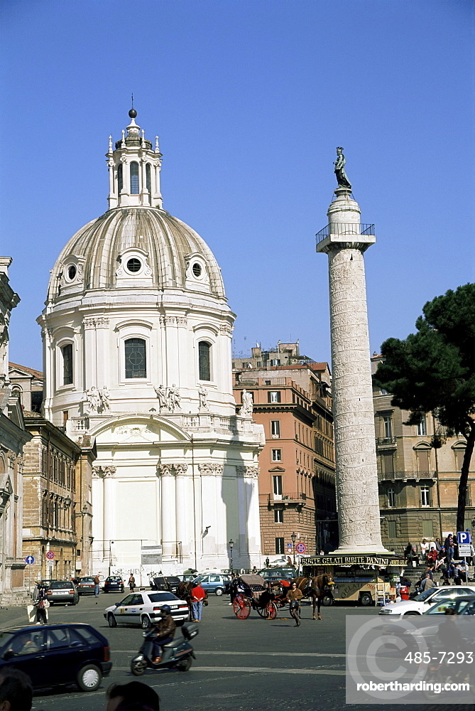 Santissimo Nome di Maria and Trajan's Column, Rome, Lazio, Italy, Europe