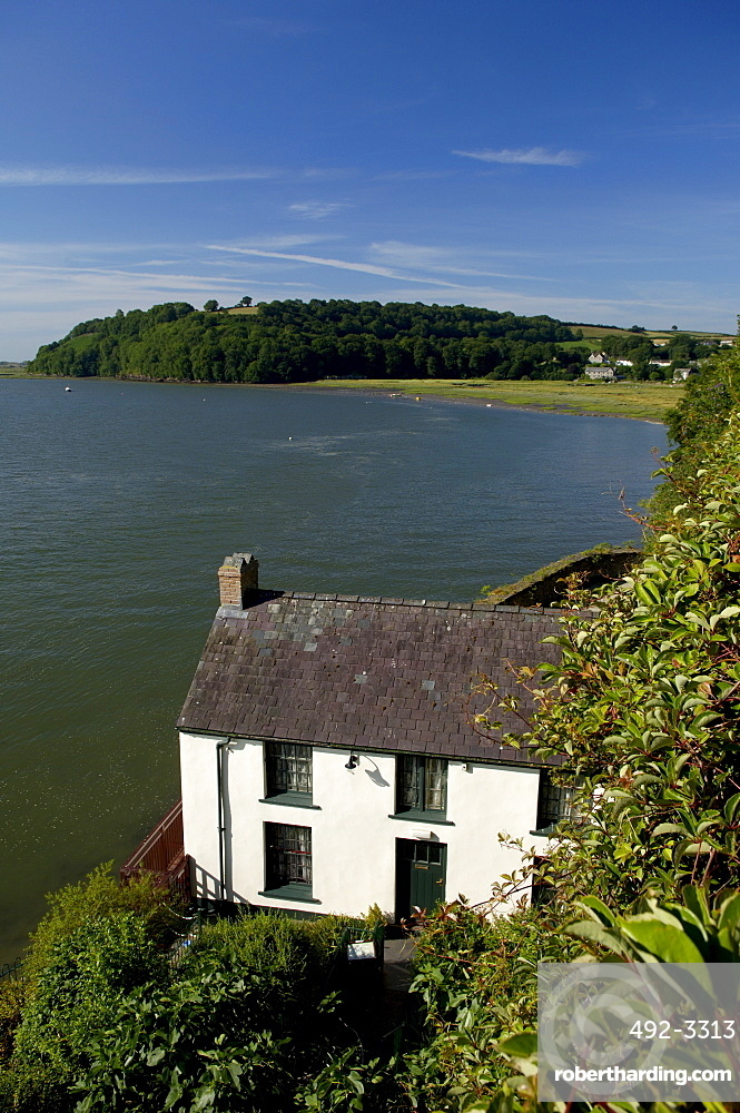 The Dylan Thomas's Georgian Boat House at Laugharne, Carmarthenshire, Wales, United Kingdom, Europe