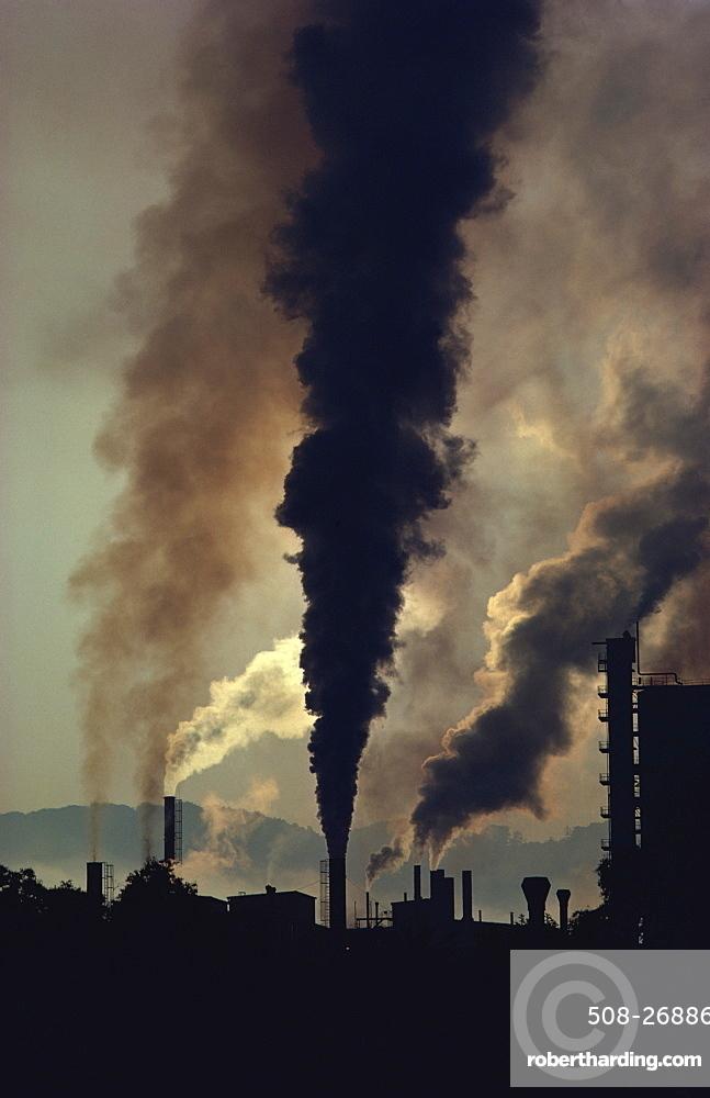 Pollution, Chemie Linz, central Austria, Europe