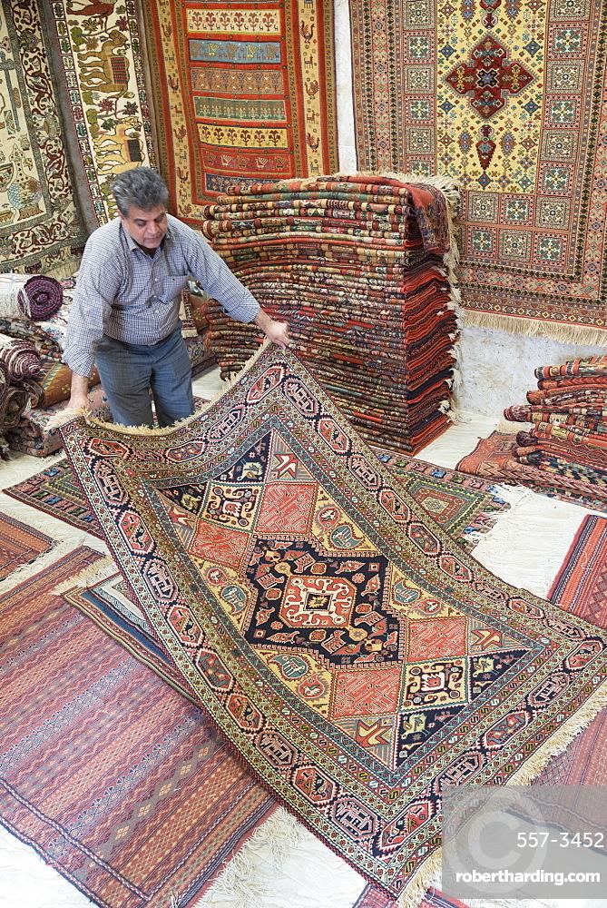 carpet trader, Mashhad, Iran, Western Asia