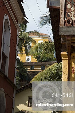 In the Latin quarter of Panaji, formerly known as Panjim, Goa, India, Asia