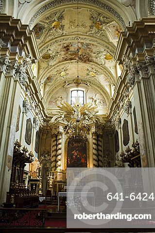 Church of St. Anne's, one of Poland's most beautiful Baroque churches, Old Town District (Stare Miasto), Krakow (Cracow), UNESCO World Heritage Site, Poland, Europe