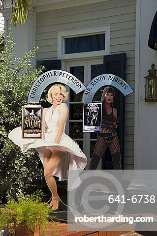 La TeDa, a restaurant and night club with a drag show (female impersonaters), Duval Street, Key West, Florida, United States of America, North America