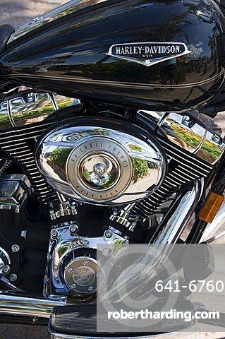 Harley Davidson motorcycle, Key West, Florida, United States of America, North America
