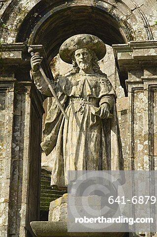 Puerta Santa doorway, Santiago Cathedral, UNESCO World Heritage Site, Santiago de Compostela, Galicia, Spain, Europe