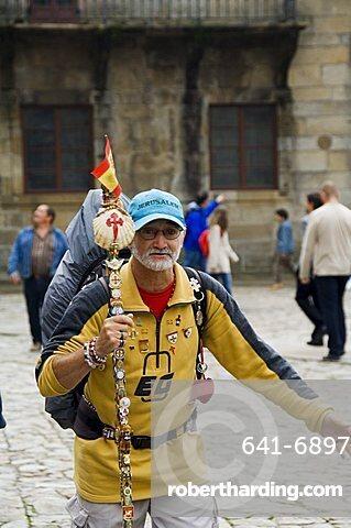 Pilgrims, Santiago de Compostela, Galicia, Spain, Europe