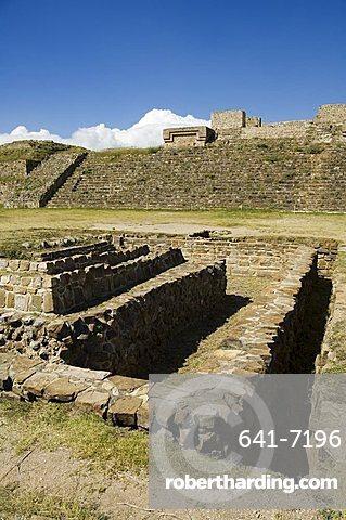 Water cistern, the ancient Zapotec city of Monte Alban, UNESCO World Heritage Site, near Oaxaca City, Oaxaca, Mexico, North America