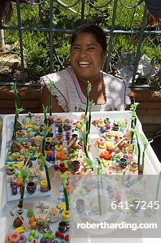 Day of the Dead sweets, in the market, Zaachila, Oaxaca, Mexico, North America