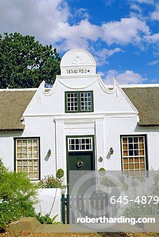 Cape Dutch architecture, early 19th c. Stellenbosch, South Africa
