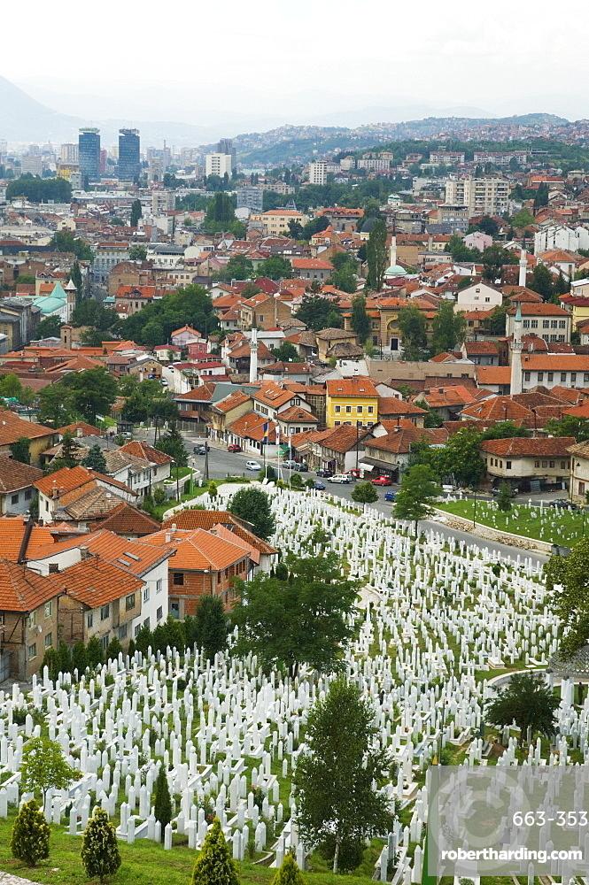 War cemetery, Sarajevo, Bosnia, Bosnia-Herzegovina, Europe