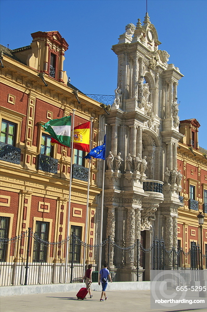 San Telmo Palace, facade, Seville, Andalusia, Spain, Europe