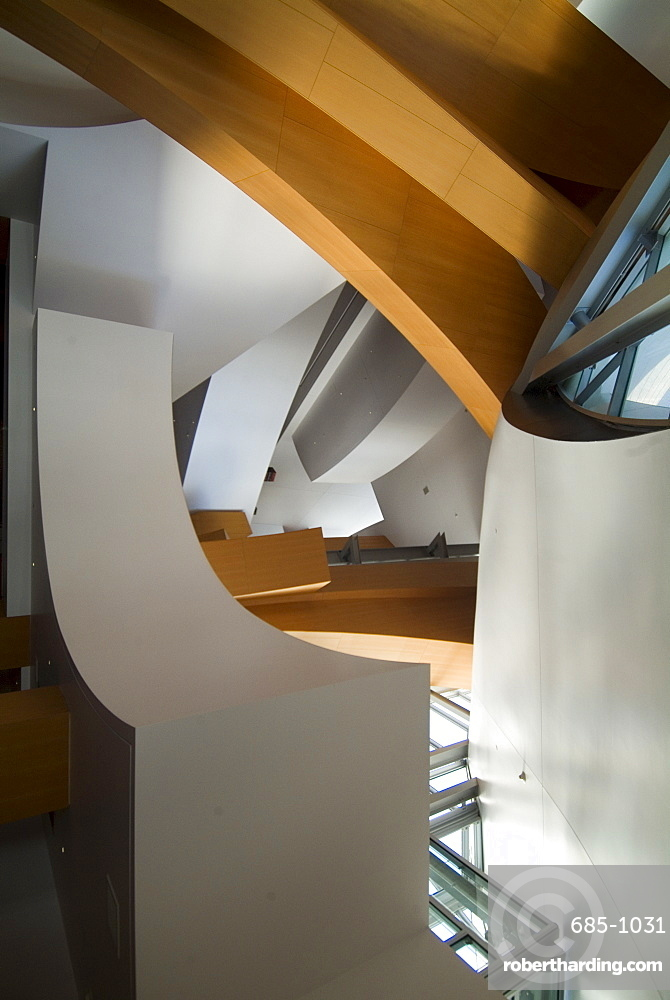 Interior, Walt Disney Concert Hall, part of Los Angeles Music Center, Frank Gehry architect, downtown, Los Angeles, California, United States of America, North America