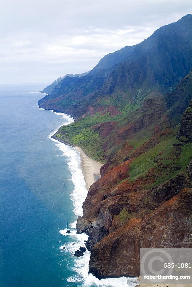 Na Pali, north coast of the island of Kauai, Hawaii, United States of America, Pacific, North America