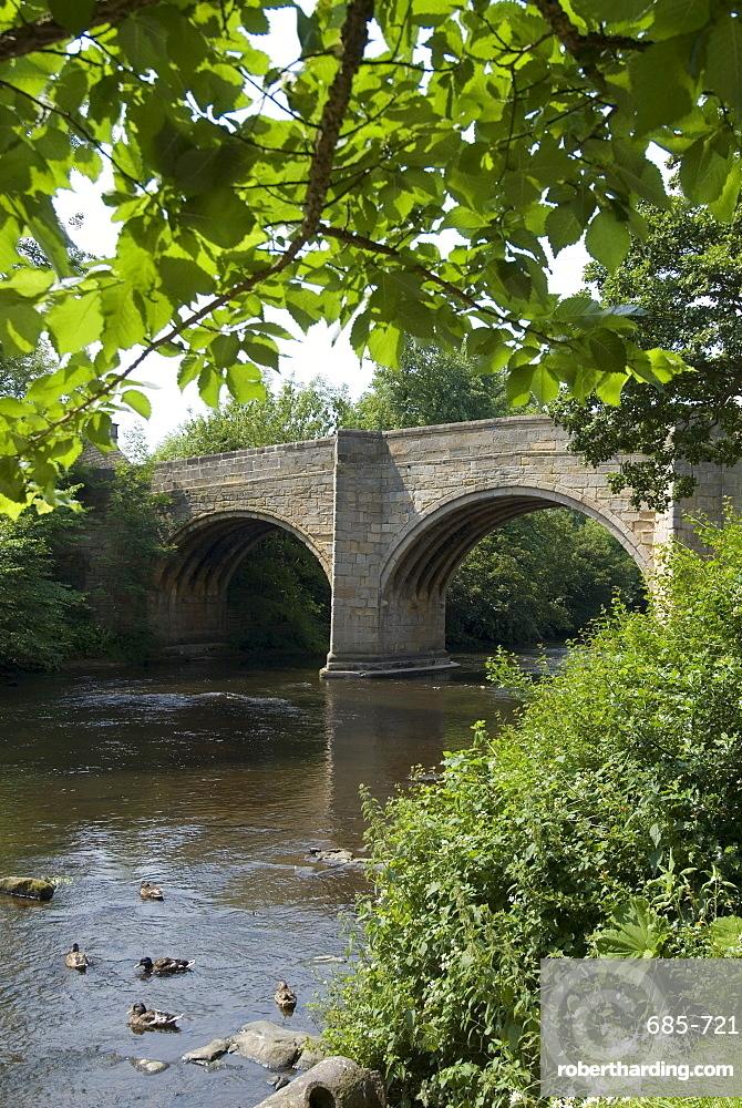 Baslow Bridge, Derbyshire, Peak District National Park, England, United Kingdom, Europe