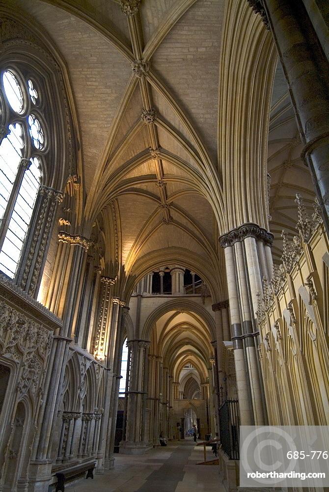 Interior, Lincoln Cathedral, Lincoln, Lincolnshire, England, United Kingdom, Europe