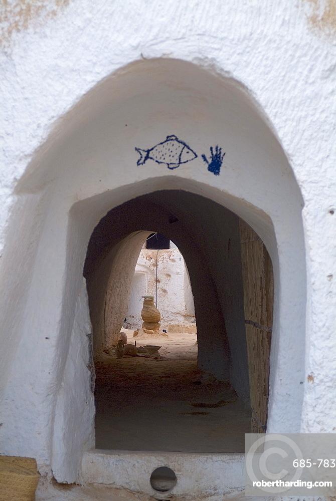 Underground cave dwelling, Matmata, Tunisia, North Africa, Africa