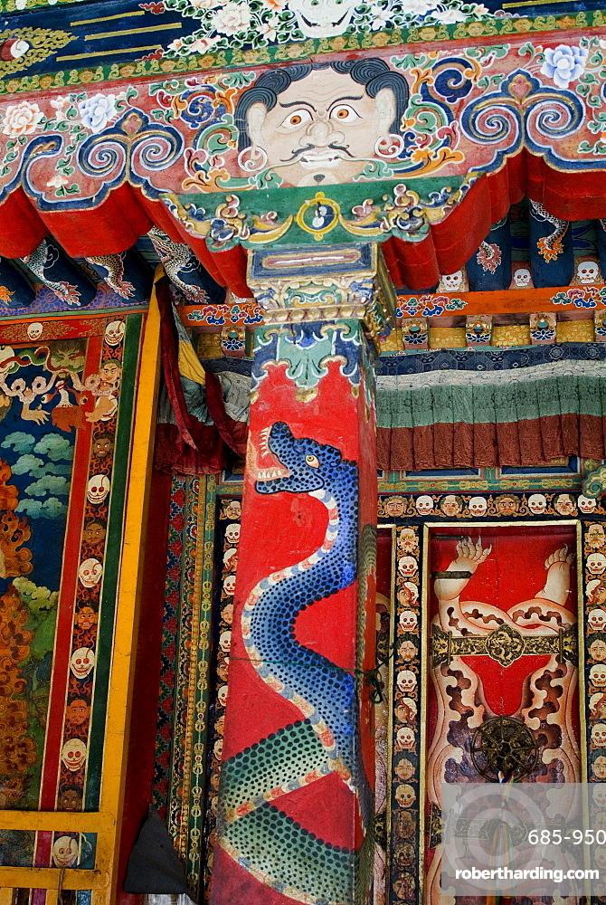 Detail, Nechung Monastery, Lhasa, Tibet, China, Asia